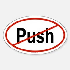 PUSH Oval Decal