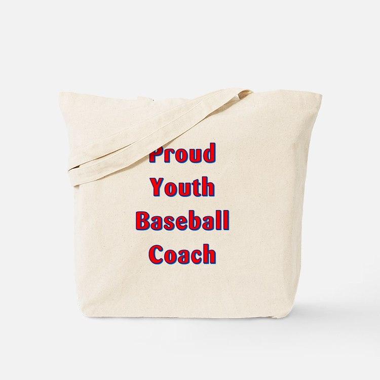 Proud Youth Baseball Coach Tote Bag