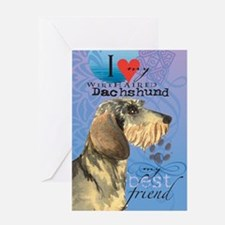 Wirehaired Dachshund Greeting Card
