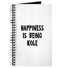 Happiness is being Kole Journal