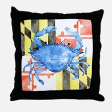 Cool Blue crabs Throw Pillow