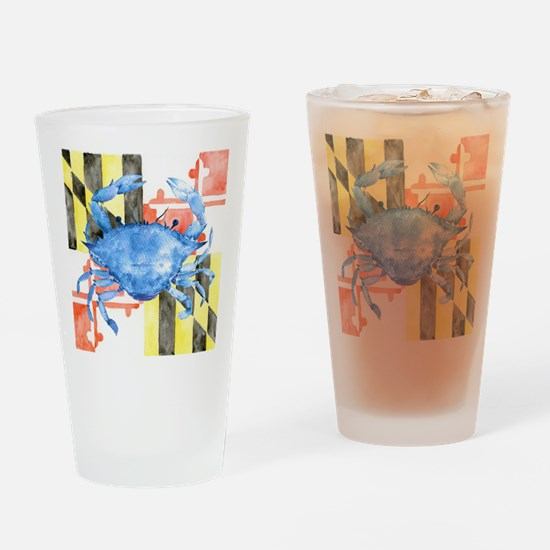 Cute Blue crab Drinking Glass