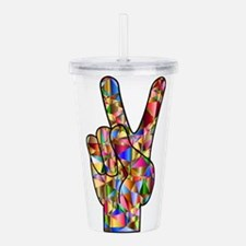 Chromatic Rainbow Peac Acrylic Double-wall Tumbler