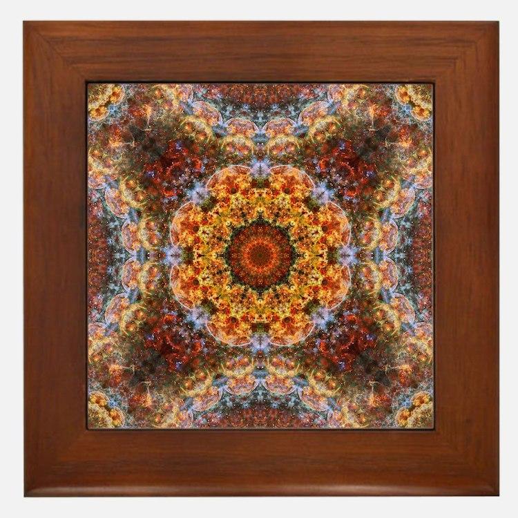 Cute Mandala Framed Tile