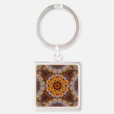 Funny Chakra meditation Square Keychain