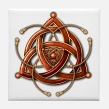 Cute Trinity knots Tile Coaster