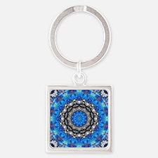 Cool Chakra meditation Square Keychain