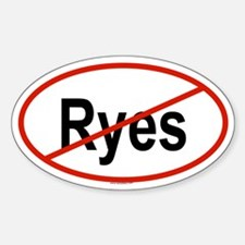 RYES Oval Decal