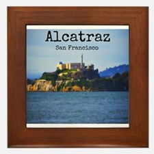 Alcatraz Island San Francisco Framed Tile