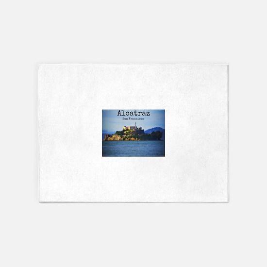 Alcatraz Island San Francisco 5'x7'Area Rug
