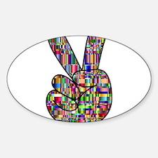 Chromatic Rainbow Peace Hand Signal Decal