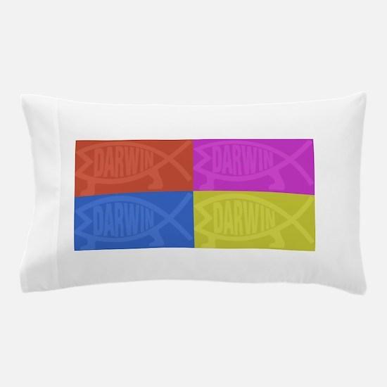 Darwin Fish Pop-Art 2 Pillow Case