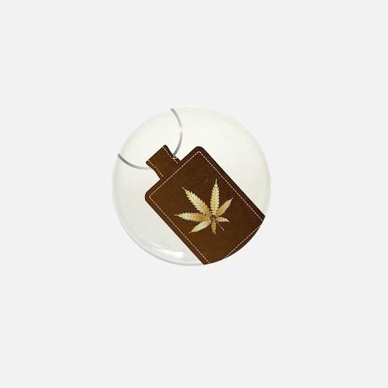 Marijuana Isolated Key Fob Mini Button