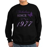 1977 womens Sweatshirt (dark)