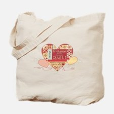 Friendships are like Quilts in Hearts Tote Bag