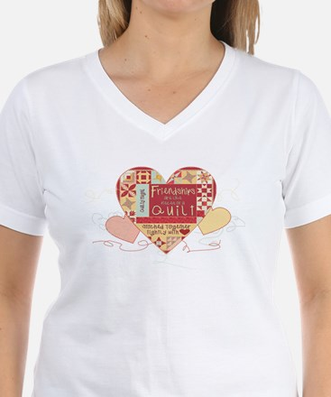 Friendships are like Quilts in Hearts T-Shirt
