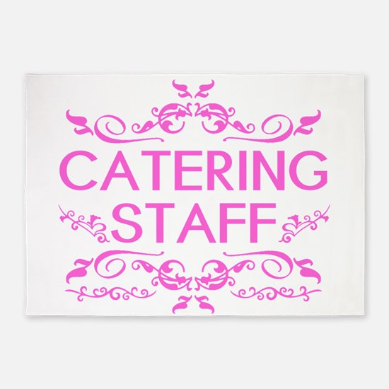 Catering: Catering Staff (Pink) 5'x7'Area Rug