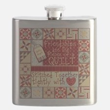 Friendships are Like Quilts Flask