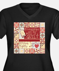 Friendships are Like Quilts Plus Size T-Shirt