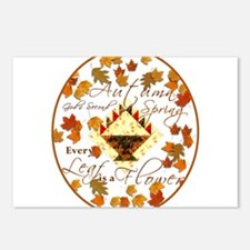 Autumn Second Spring Leaves Postcards (Package of
