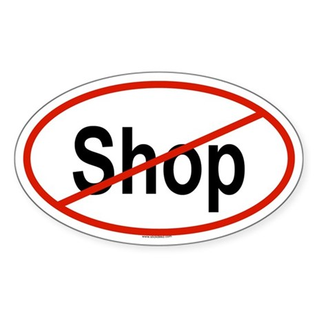 SHOP Oval Sticker