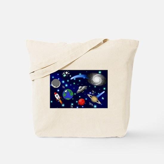 Kids Galaxy Universe Illustrations Tote Bag