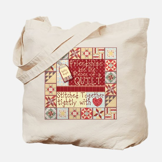 Quilting Friendships Tote Bag