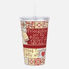 Quilting Friendships Acrylic Double-wall Tumbler