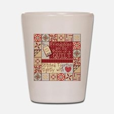 Quilting Friendships Shot Glass