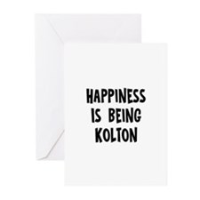 Happiness is being Kolton Greeting Cards (Pk of 10
