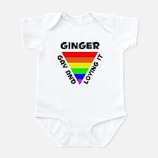 Ginger Gay Pride (#006) Infant Bodysuit