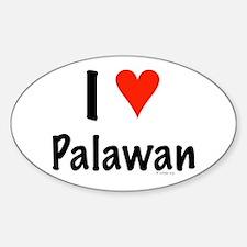 I love Palawan Oval Decal