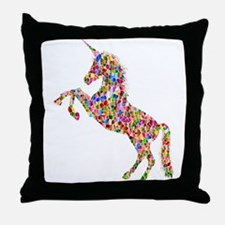 Prismatic Rainbow Unicorn Throw Pillow