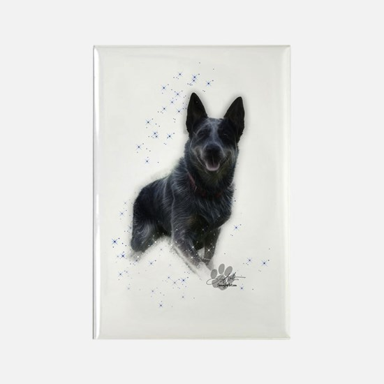 Cute Cattle dog Rectangle Magnet