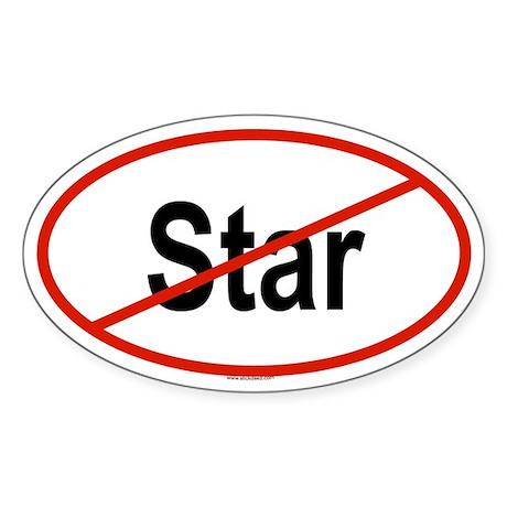 STAR Oval Sticker