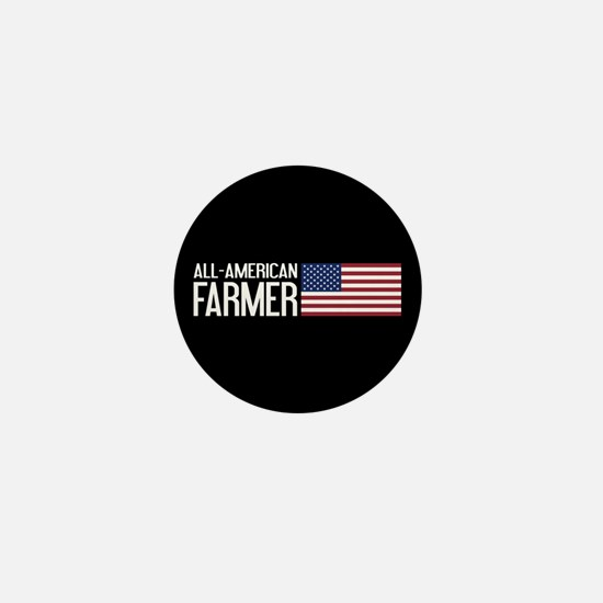 Farmer: All-American (Black) Mini Button