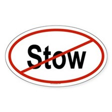 STOW Oval Decal