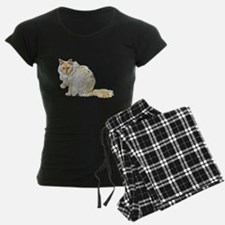 Bad kitty flipping the bird pajamas
