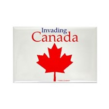 Invading Canada Rectangle Magnet