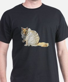 Bad kitty flipping the bird T-Shirt