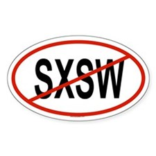 SXSW Oval Decal
