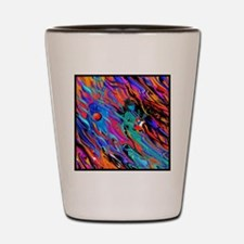 Colorful Electric Guitar Musician Art P Shot Glass