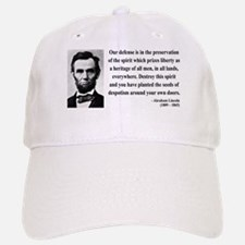 Abraham Lincoln 4 Baseball Baseball Cap