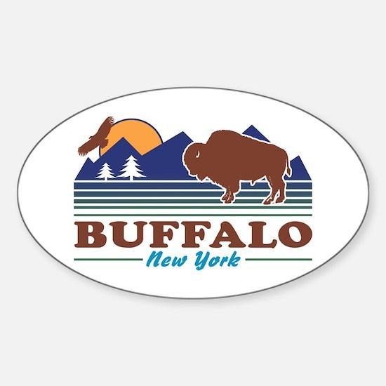 Buffalo New York Sticker (Oval)