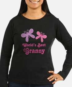 Best Granny Butterfly Long Sleeve T-Shirt