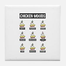 Chicken Moods Tile Coaster