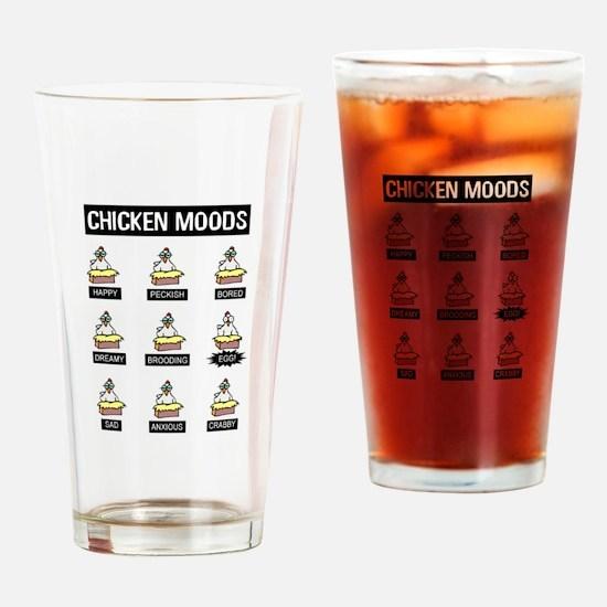 Chicken Moods Drinking Glass
