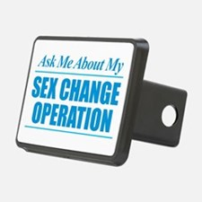 Ask Me About My Sex Change Rectangular Hitch Cover