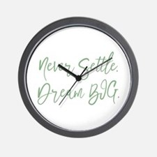 Never Settle Wall Clock