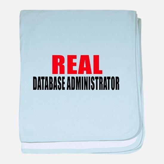 Real Database administrator baby blanket